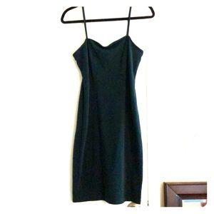 Dark green strap dress